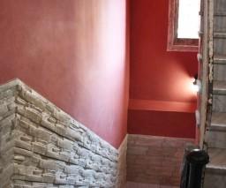 The staircase at La Gargola Hostal in Old Havana, Cuba