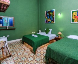 The Green Room in La Gargola Guesthouse in La Habana, Cuba