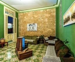 The lounge room in La Gargola Guesthouse, Havana, Cuba