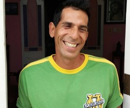 Hector - one of the friendly staff at Vista al Mar guesthouse in Old Havana