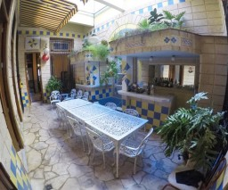 interior patio in Havana