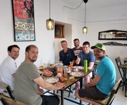 Breakfast in Sunset Malecon guesthouse Havana