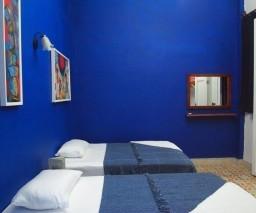 The blue room at La Gargola guesthouse in Old Havana, Cuba